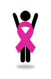 La femme de gain de cause a combattu le cancer du sein images libres de droits