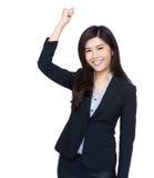 La femme de l'Asie encouragent  Photos stock