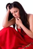 La femme est déprimée Photo libre de droits