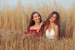 La femme est dans l'amour avec une amie Photographie stock