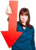 La femme est ennuyée au sujet de l'échec photo stock