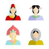 La femme et la nationalité Images libres de droits