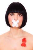 La femme facilite HIV Photos libres de droits