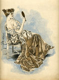 La Femme intime. Illustration from the book La Femme intime (1894 year royalty free illustration
