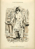 La Femme intime. Illustration from the book La Femme intime (1894 year stock illustration