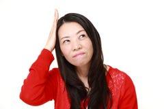 La femme japonaise a perdu sa mémoire Photographie stock