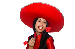 La femme mexicaine avec la flèche de l'amour Images stock