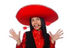 La femme mexicaine avec la flèche de l'amour Photo stock