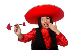 La femme mexicaine avec la flèche de l'amour Photo libre de droits