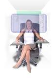 La femme moderne d'affaires Images stock