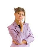 La femme pense Image stock