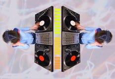 La femmina Funky DJ modella Fotografie Stock Libere da Diritti