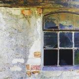La fenêtre abandonnée Images stock