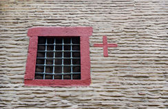 La fenêtre avec le gril Image stock