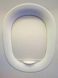 La fenêtre d'avion est fermée Photos stock