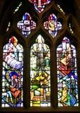 La fenêtre de peste, Eyam, Derbyshire. Images stock