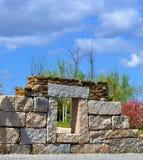 La fenêtre en pierre photo libre de droits