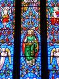 La fenêtre en verre teinté Image libre de droits