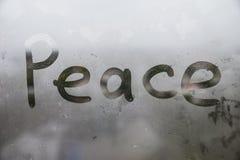 La fenêtre humide photographie stock libre de droits