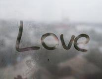 La fenêtre humide Image libre de droits