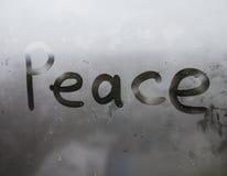 La fenêtre humide photos libres de droits