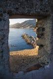 La fenêtre sur la mer Photographie stock