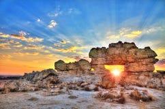 La Fenetre sunset Stock Images