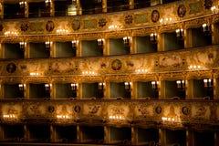 La Fenice interiour, Venetië stock foto's