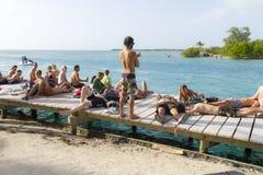 La fente, matoir de Caye, Belize Photographie stock