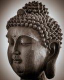 La fente a modifié la tonalité la tête de Bouddha Image libre de droits