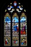 La fenêtre de l'église Photos libres de droits