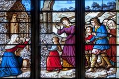 La fenêtre de l'église Image libre de droits