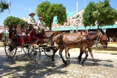 La feria de abril de Sevilla Foto de archivo libre de regalías