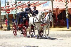 La feria de abril de Sevilla Fotos de archivo libres de regalías
