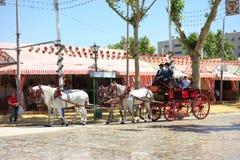 La feria de abril de Sevilla Imágenes de archivo libres de regalías