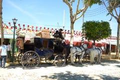 La feria de abril de Sevilla Imagen de archivo libre de regalías