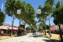 La feria de abril de Sevilla Imagen de archivo