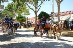 La feria de abril de Sevilla Fotografía de archivo libre de regalías