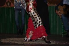 La feria de abril de Séville, flamenco de danse de fille Photos libres de droits