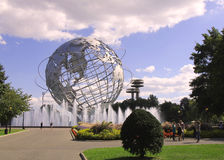 La feria 1964 de mundo de Nueva York Unisphere en el parque de Flushing Meadows Imágenes de archivo libres de regalías