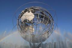 La feria 1964 de mundo de Nueva York Unisphere en el parque de Flushing Meadows fotos de archivo libres de regalías