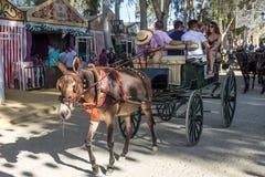 La feria de Utrera es un festival tradicional de la ciudad de Utrera imagen de archivo