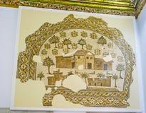La ferme antique sur la photo de mosaïque image libre de droits