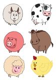 La ferme d'animaux illustration stock