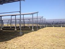 La ferme solaire Photos stock
