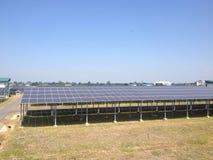 La ferme solaire Photographie stock libre de droits