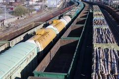La ferrovia Fotografie Stock Libere da Diritti