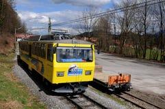 La ferrovia a cremagliera di Wendelstein Fotografia Stock
