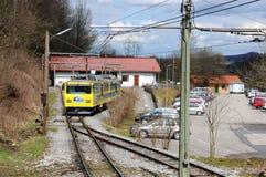 La ferrovia a cremagliera di Wendelstein - stazione della valle Fotografie Stock Libere da Diritti