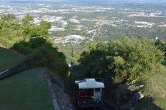 La ferrovia della pendenza della montagna dell'allerta a Chattanooga, Tennessee Fotografia Stock